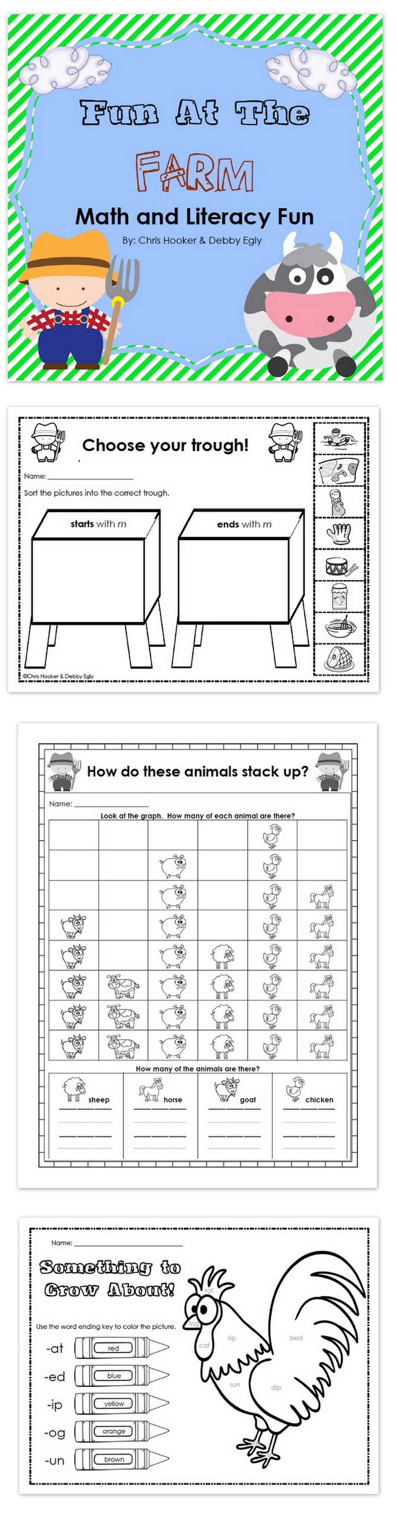 Farm Math And Literacy Fun
