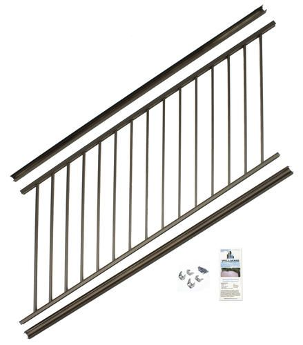 Best Williams Preassembled Powder Coated Aluminum Stair Panel 640 x 480