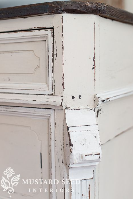 distressing painted furniture | tips & techniques - Miss Mustard Seed - Distressing Painted Furniture Tips & Techniques - Miss Mustard