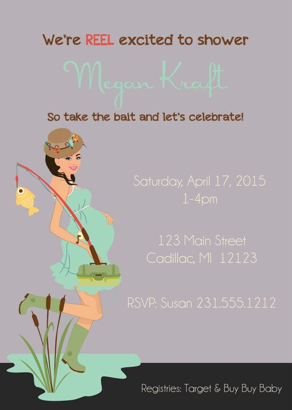 Neutral Gender Baby Shower Invitation Fishing Baby Shower