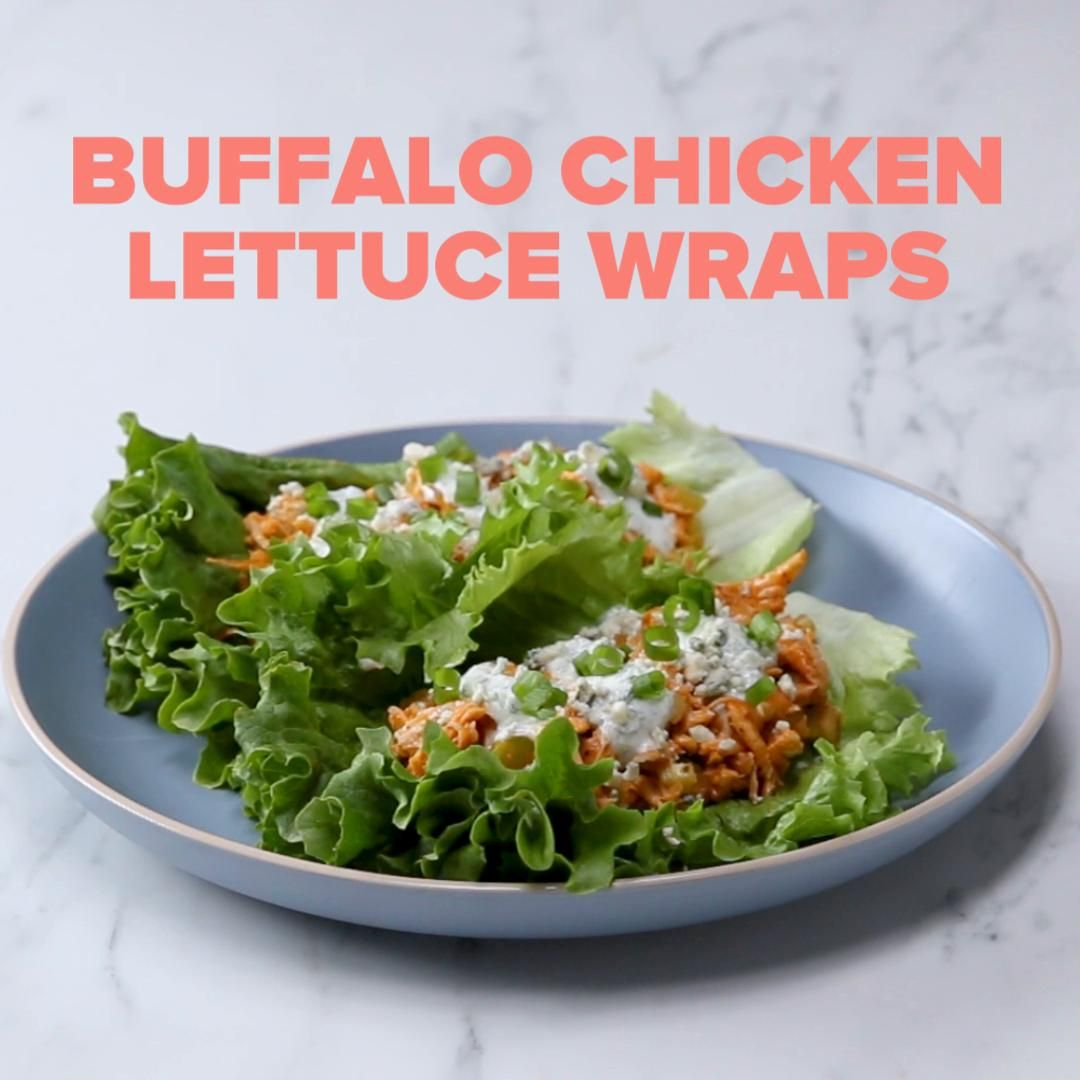 Buffalo Chicken Lettuce Wraps images
