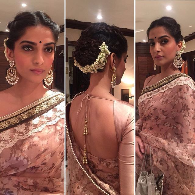 Sonam Kapoor Indian Hairstyles Indian Wedding Hairstyles Saree Hairstyles