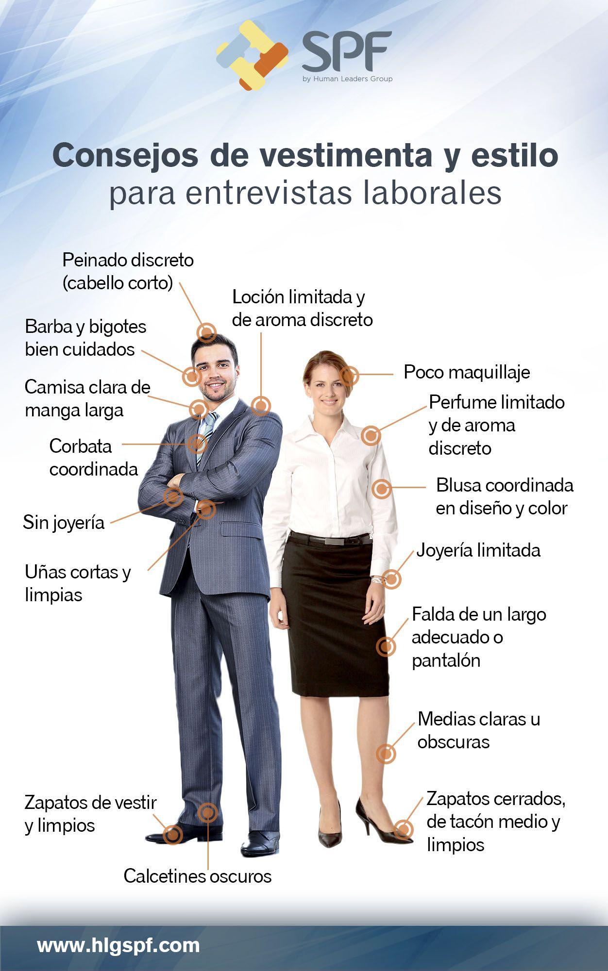 C mo vestir para una entrevista de trabajo infografia for Que es una oficina de empleo