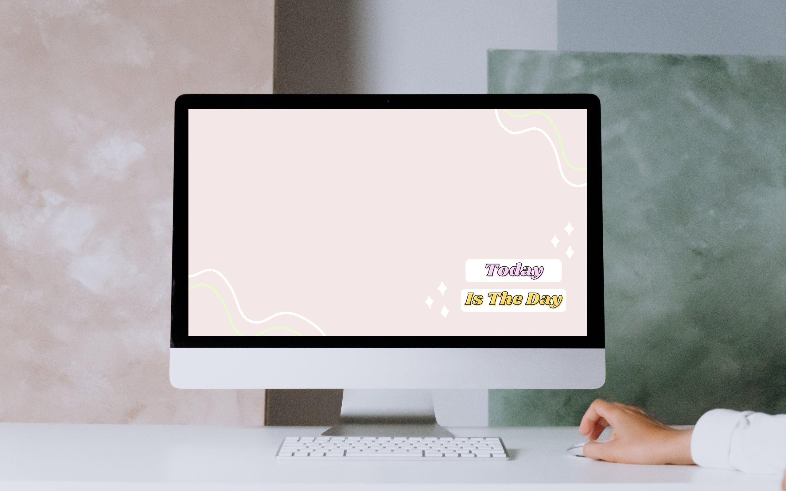 Motivational Cute Colorful Wallpaper Laptop Background Etsy In 2021 Colorful Wallpaper Wallpaper Laptop Backgrounds