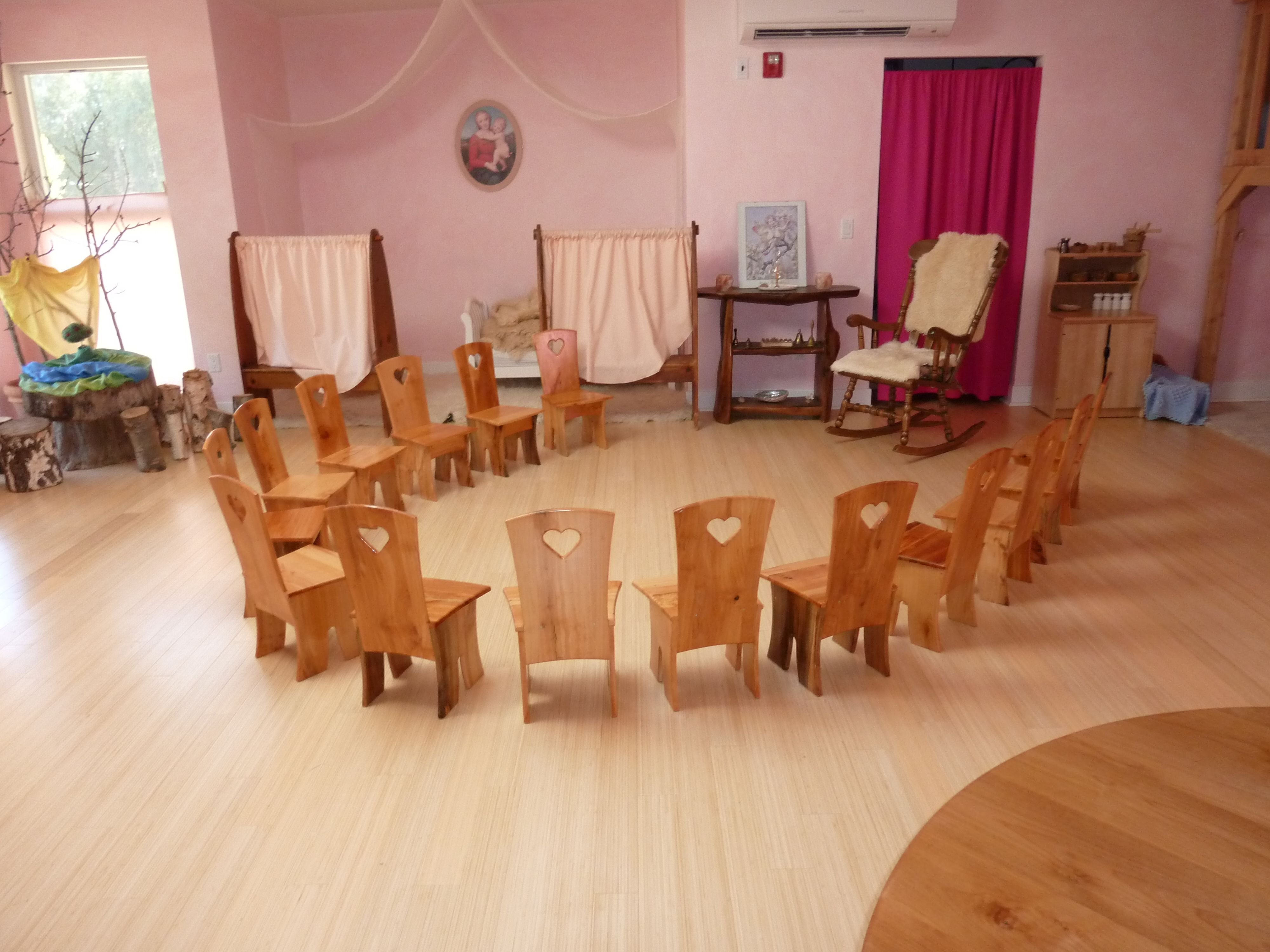 Hearts On Chairs In This Waldorf Kindergarten!
