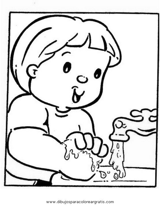para colorear habitos de higiene mi colecci 243 n de dibujos dibujos ...