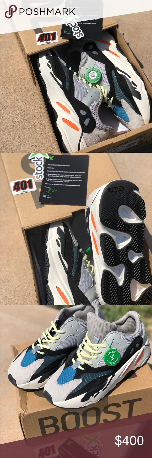 detailed look d9afb 067d7 Adidas Yeezy 700 Waverunner New , never used StockX ...