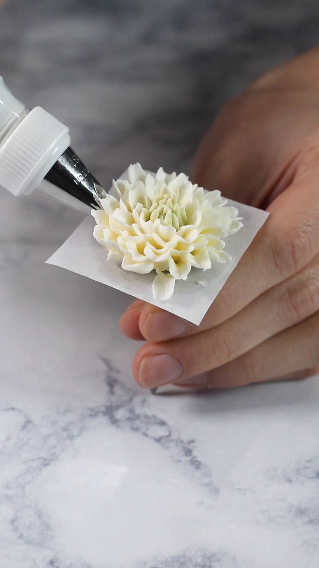 How to Pipe Buttercream Mums #icingfrosting