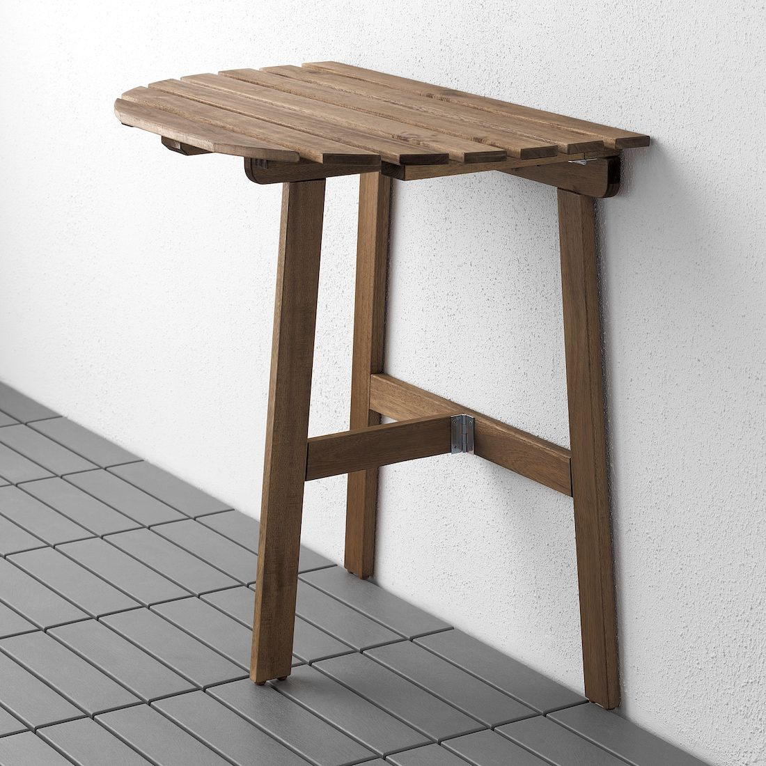 Askholmen Table For Wall Outdoor Folding Light Brown Stained Light Brown Gray Brown Stained Ikea In 2020 Wandtisch Ikea Klapptisch Holzbeize