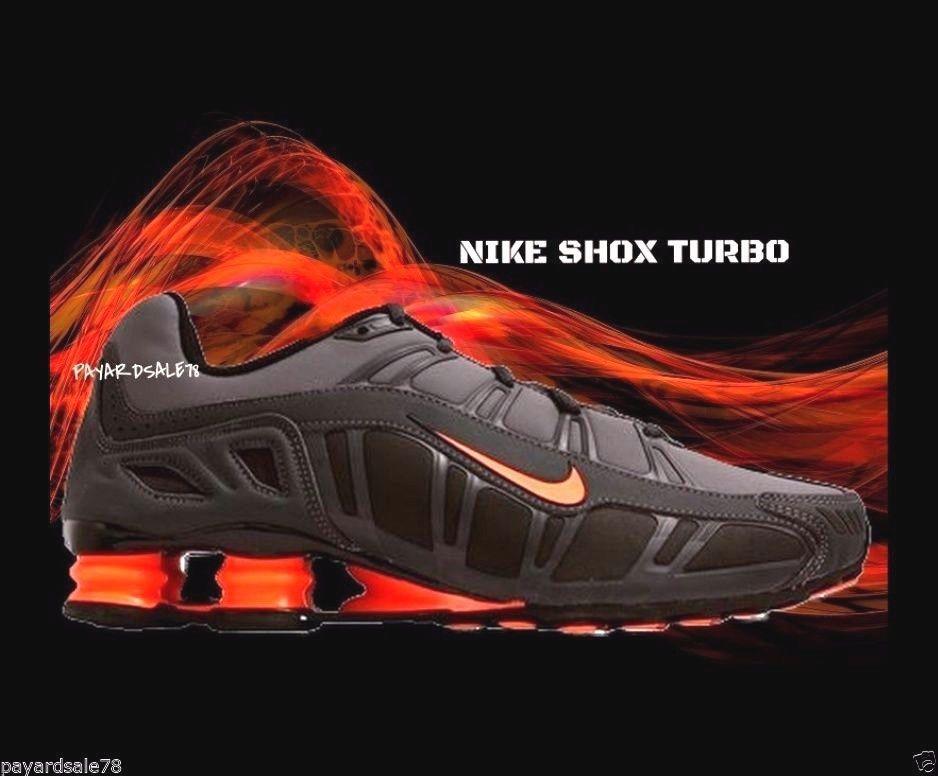 buy popular 65406 69250 MEN S SIZE 9.5 NIKE SHOX TURBO BLACK GRAY BRIGHT ORANGE BRAND NEW  455541-080  Nike  AthleticSneakers