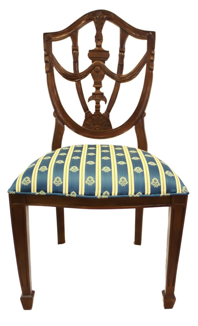 Hand Carved French Style Pila Side Chair with Vanilla ...