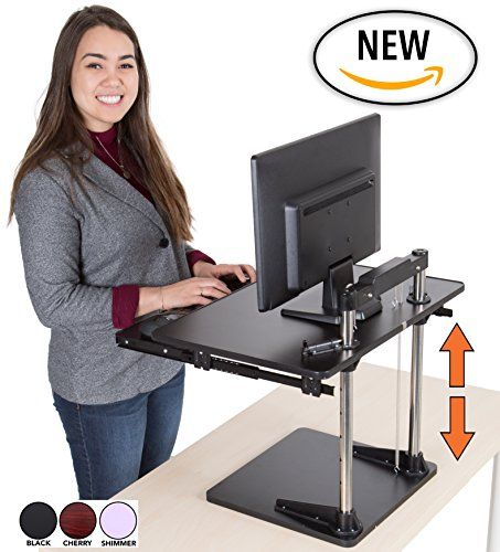 The Uptrak Metro Standing Desk Bonus Keyboard Tray Si In 2020 Sit Stand Desk Adjustable Sit Stand Desk Affordable Standing Desk