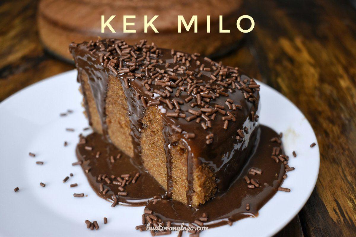 Kek Milo Kukus Yang Mudah Resipi Kita Cake Food Recipes