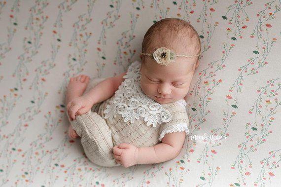 67200883ae5 Newborn Lace Romper  Newborn Girl Romper  Newborn Romper Prop  Beige   Newborn Outfit  Baby Girl Romper  Lace Romper  Newborn Photo Prop   photography ...