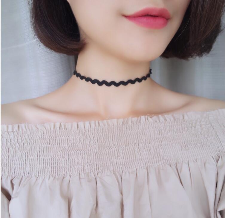 Semplice collana choker collana fredda collana di dichiarazione di modo delle donne necklacec682