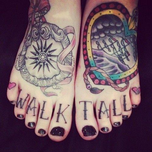 Cute tattoos on the feets. #tattoo #tattoos #ink