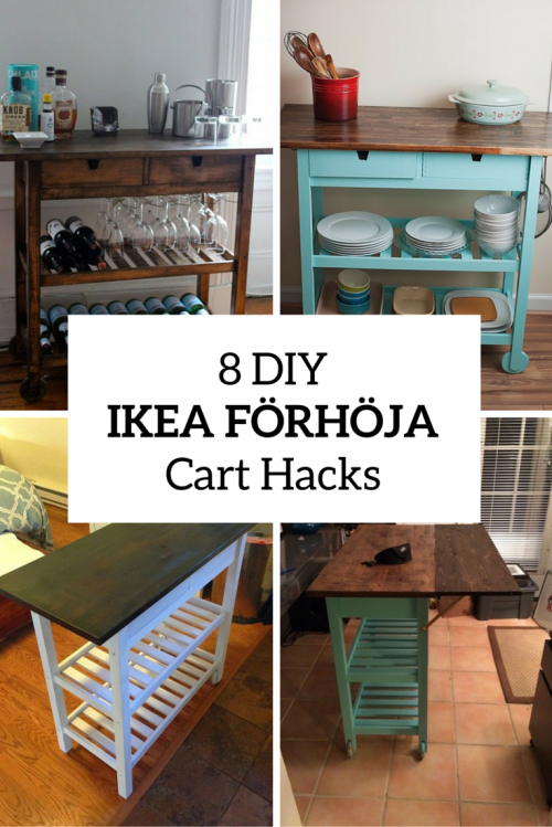 Kitchen Island Cart Diy 8 quick diy ikea fÖrhÖja kitchen cart hacks shelterness