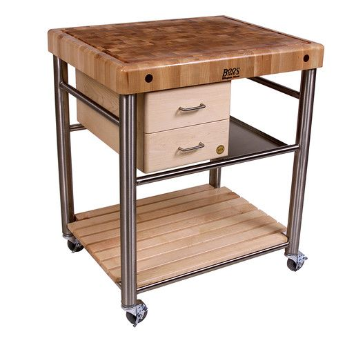A Kitchen Cart With A Cutting Board Top Is A Versatile And Handy Piece Of  Kitchen