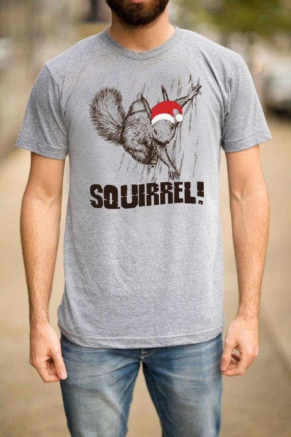 bdabbe182 Christmas T Shirt, Christmas Squirrel T Shirt, Christmas Shirt, Funny  Christmas Shirt, Holiday Shirt