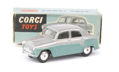 Mettoy Corgi diecast No.201 Austin Cambridge Saloon 1956-61