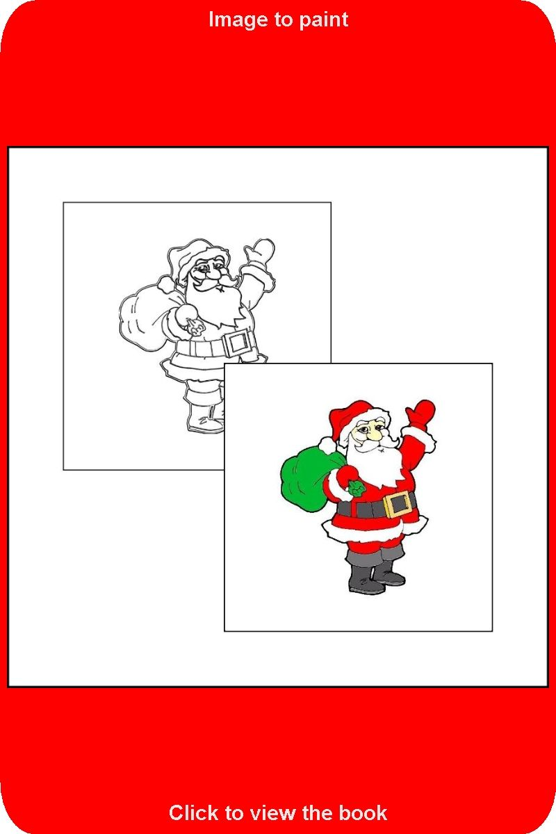 026 Sample Drawing From The Book The Coloring Book With Santa Claus Coloring Books Toddler Coloring Book Coloring Book Pages
