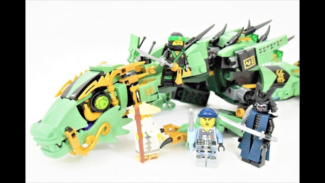 Lego Ninjago Movie Green Ninja Mech Dragon 70612 Stop Motion Build