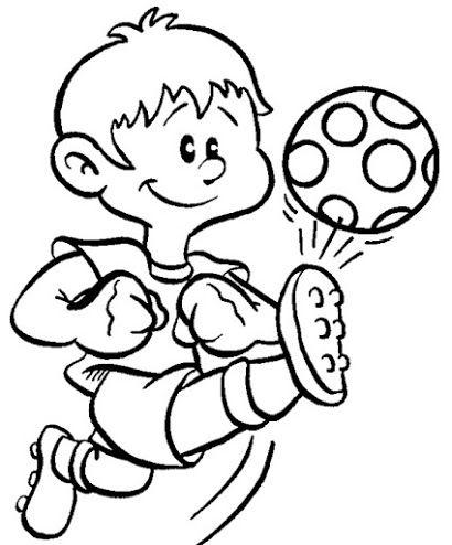 Resultado De Imagen Para Ninos Animados Jugando Futbol Para Pintar