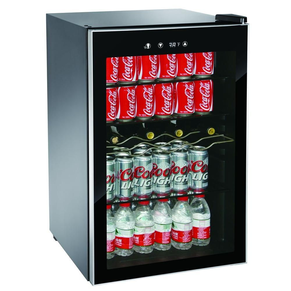 Igloo Single Zone 22 In 4 Bottle Or 110 12 Oz Can Beverage Wine Center Mis1530 The Home Depot Beverage Center Mini Wine Fridge Beverage Refrigerator