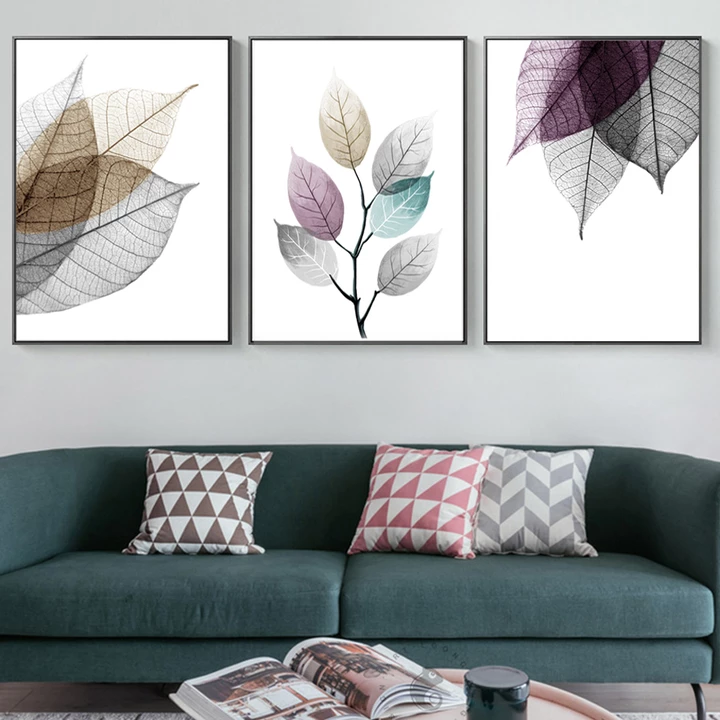 Wall Art The Beauty Of Leaf Wall Art Pictures Living Room