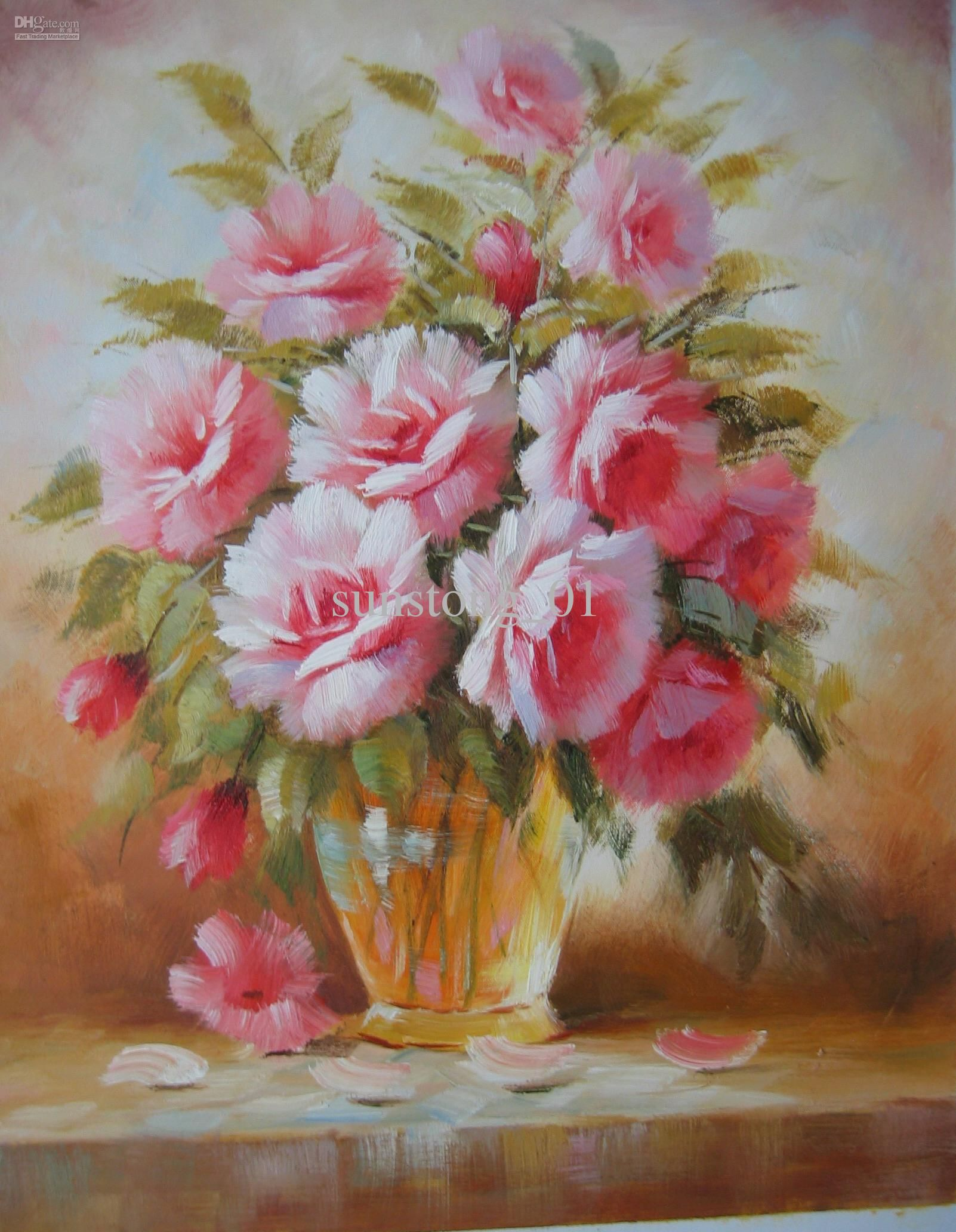 Flower Vase Painting Google Search