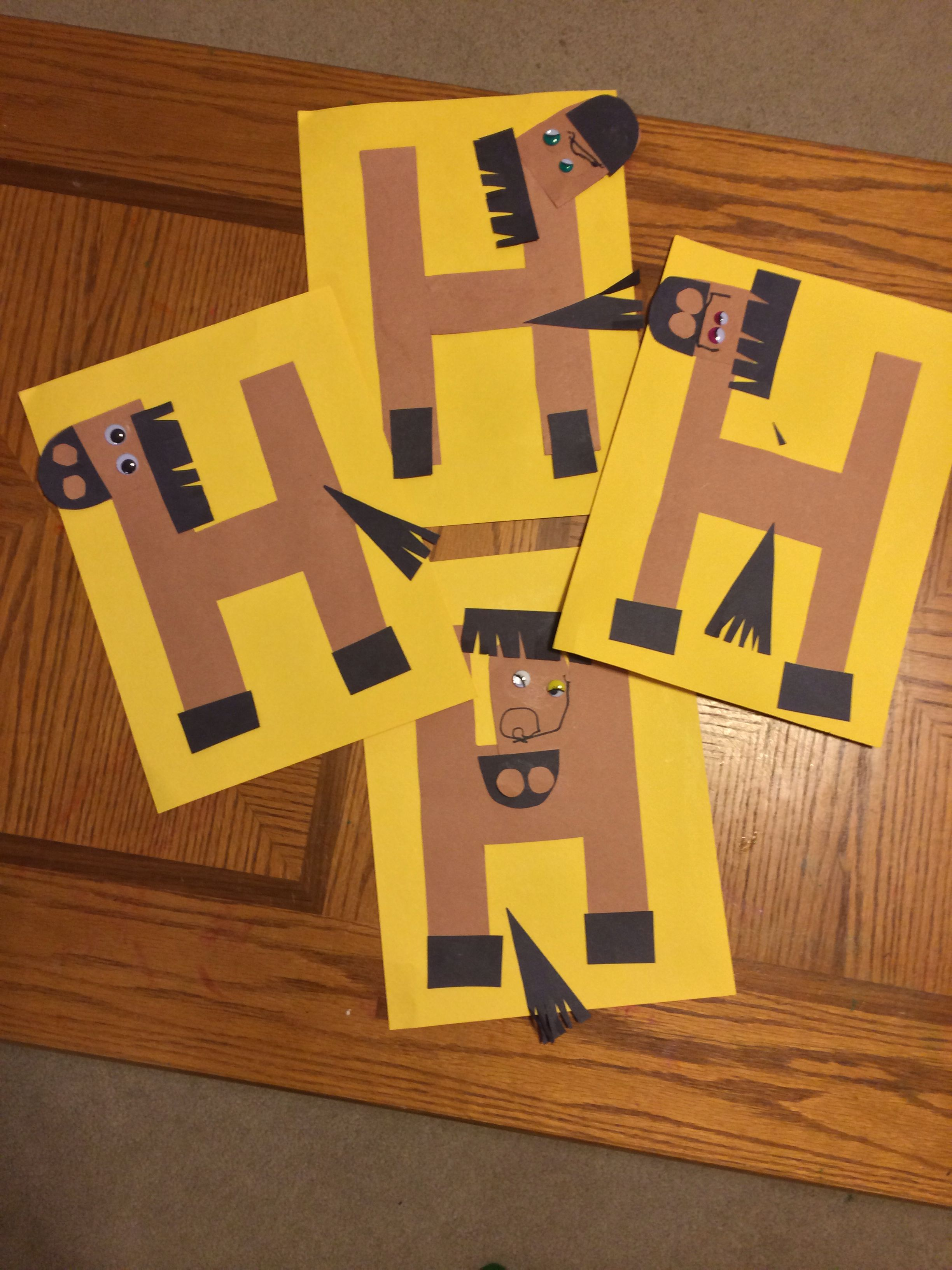 H Is For Horses Great Letter Craft For Kids Learning The