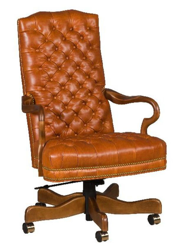 Tufted Gooseneck Leather Desk Chair These Are Popular For Home