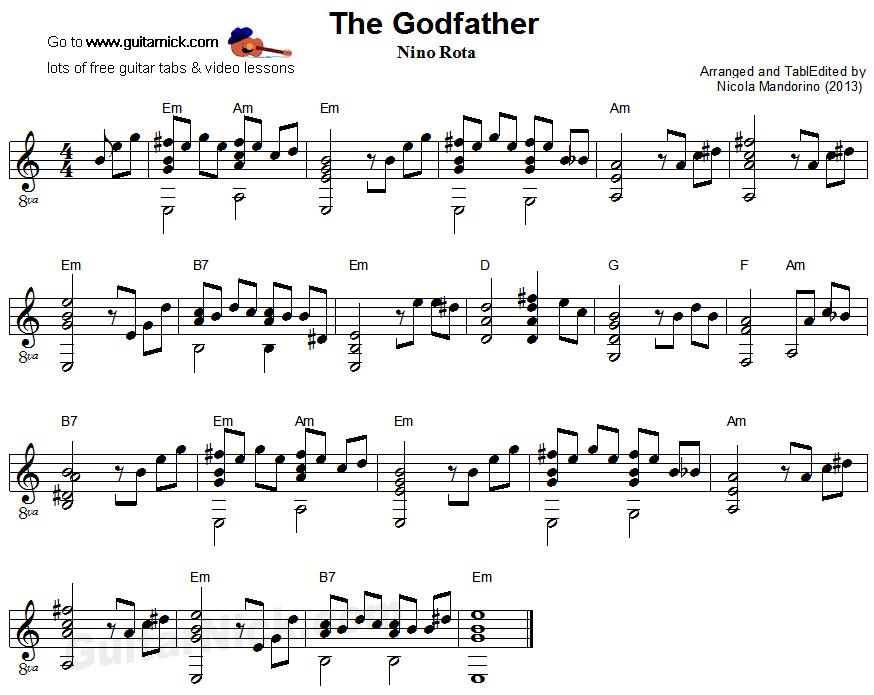 Godfather Guitar Sheet Kotaksurat
