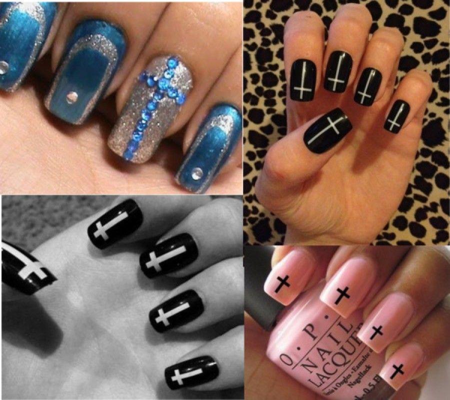 Explore Cross Nail Designs, Diy Nail Designs, and more! - Diy Nail Designs - Google Search Hot Nails! Pinterest Cross