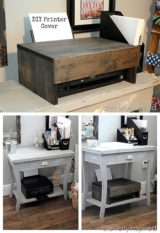 Cover Your Bulky Printer And Create A Flat Surface To Utilize In Office With