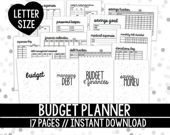 Budget Planner Printable Set Letter Size X By Thewomentalk