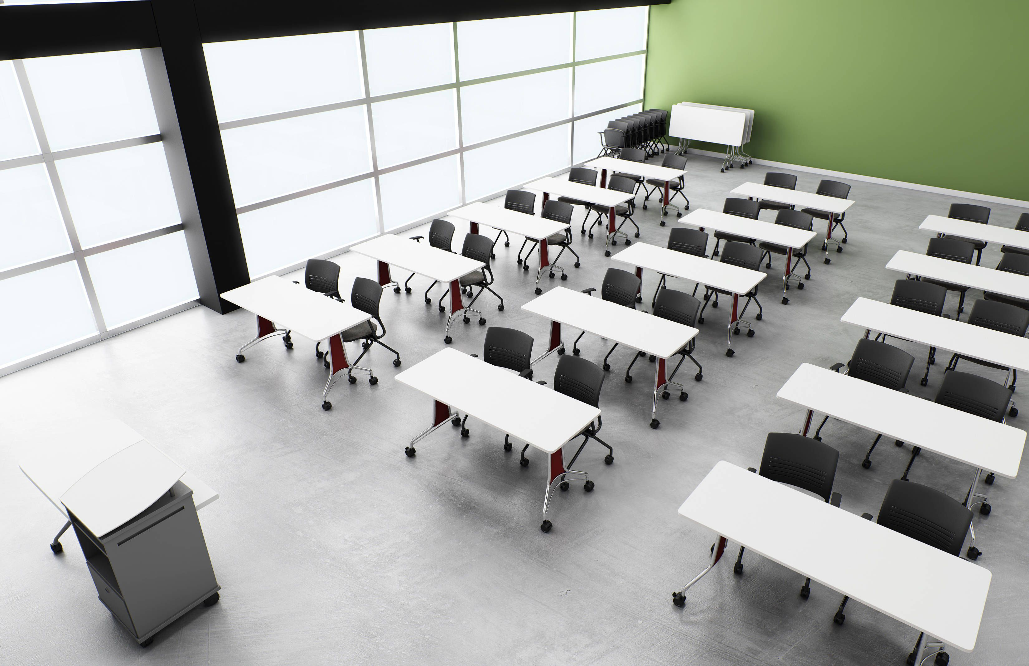 What Do You Learn In Interior Design School ki's enlite tables with strive seating. where do you learn best