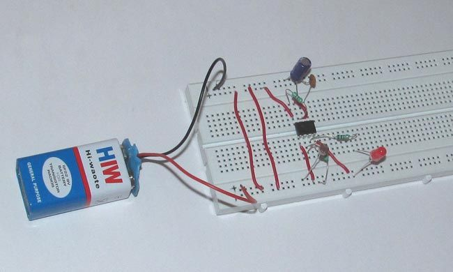 Dark Detecting LED using LDR and 555 Timer | 555 Timer Circuits ...