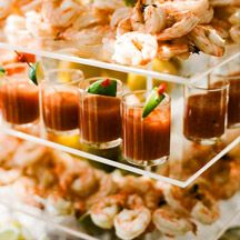 Elaine Bell Catering Bloody Mary and Crab Gazpacho raw bar