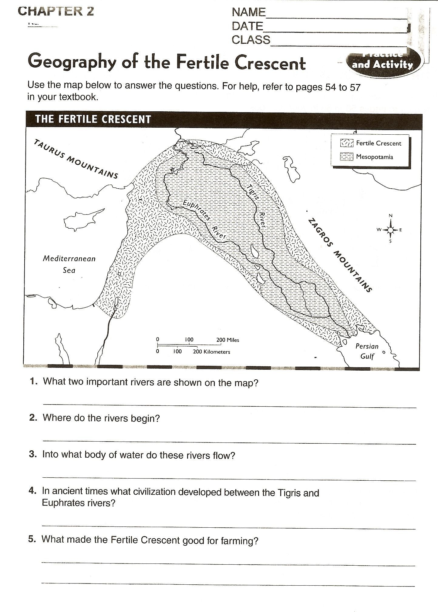 hight resolution of Mesopotamia Worksheets 6th Grade in 2020   Social studies middle school