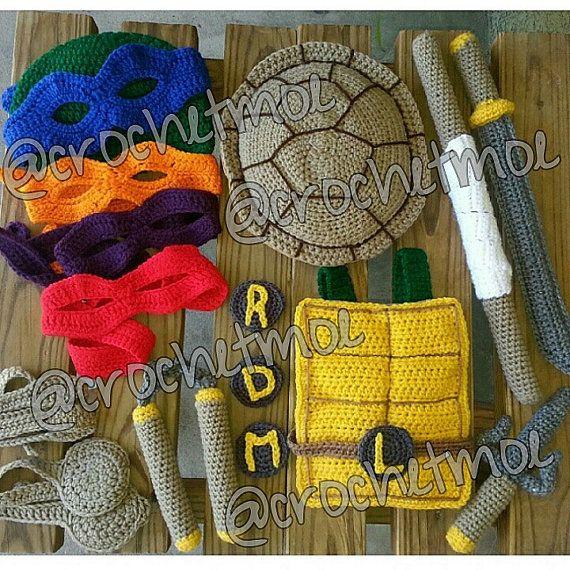 teenage mutant ninja turtle inspired weapon set costume   Crochet ...