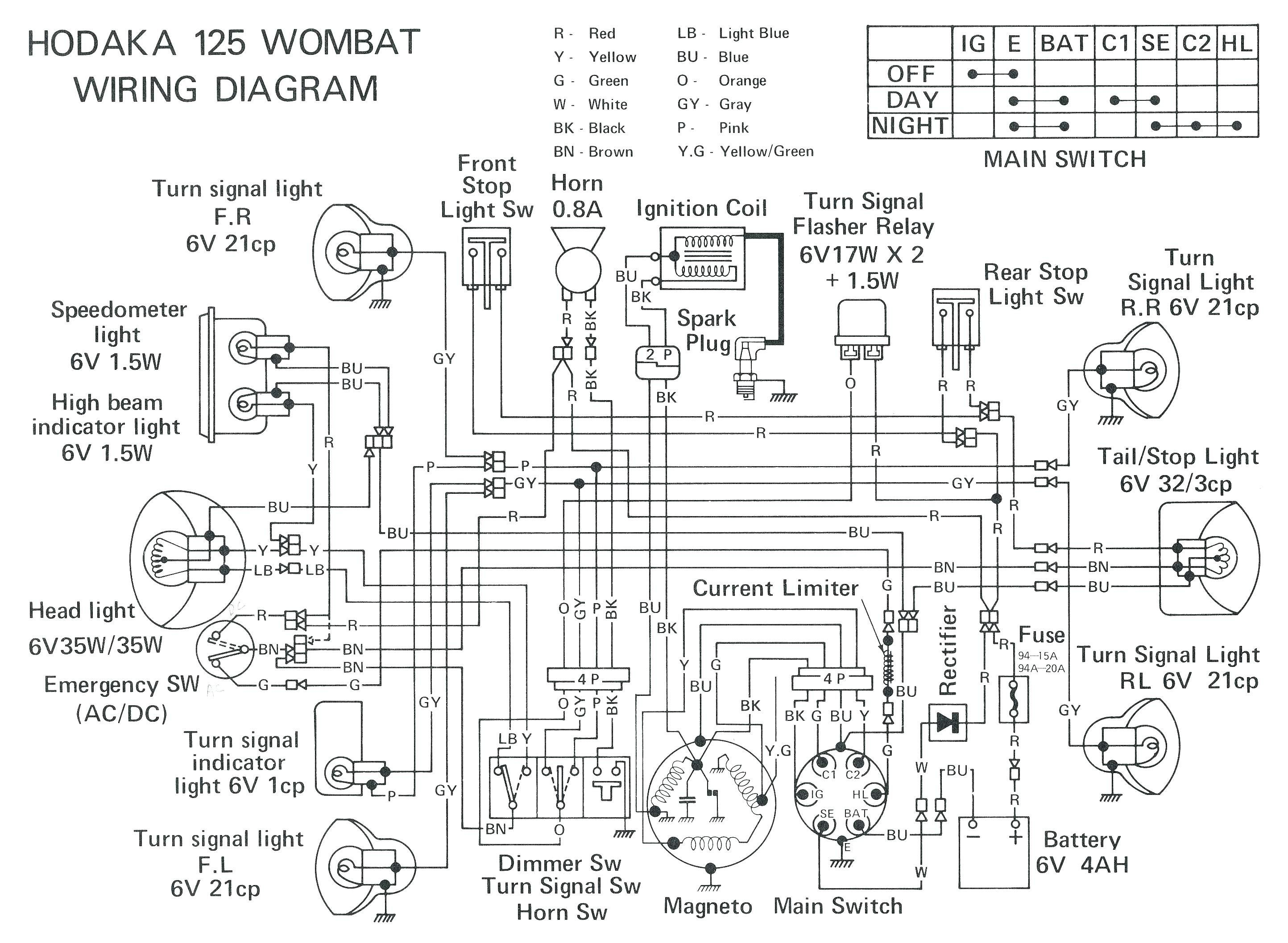 X1 Ninja Pocket Bike Wiring Diagram