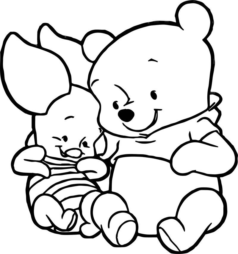 Cute Baby Piglet Winnie The Pooh Coloring Page Piglet Winnie The Pooh Winnie The Pooh Drawing Cute Coloring Pages