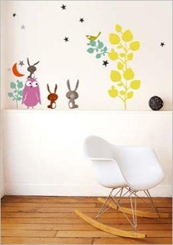 1art1 40077 Tiere - Tiere und Märchen Wand-Tatoos Aufkleber Poster - wandtatoos für küche