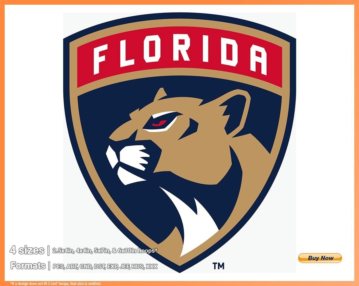 Florida Panthers Hockey Sports Embroidery Logo In 4 Sizes Spln001508 Sports Logos Embroidery Vector For Nfl Nba Nhl Mlb Milb And More Nhl Logos Florida Panthers Florida Panthers Hockey