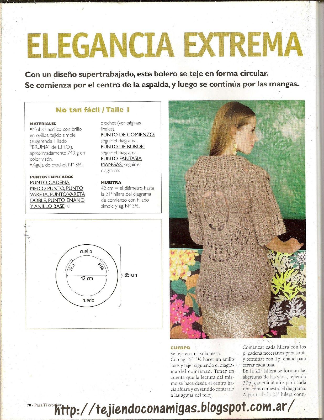 Tejiendo con Amigas: Chaleco circular crochet | crochet | Pinterest ...