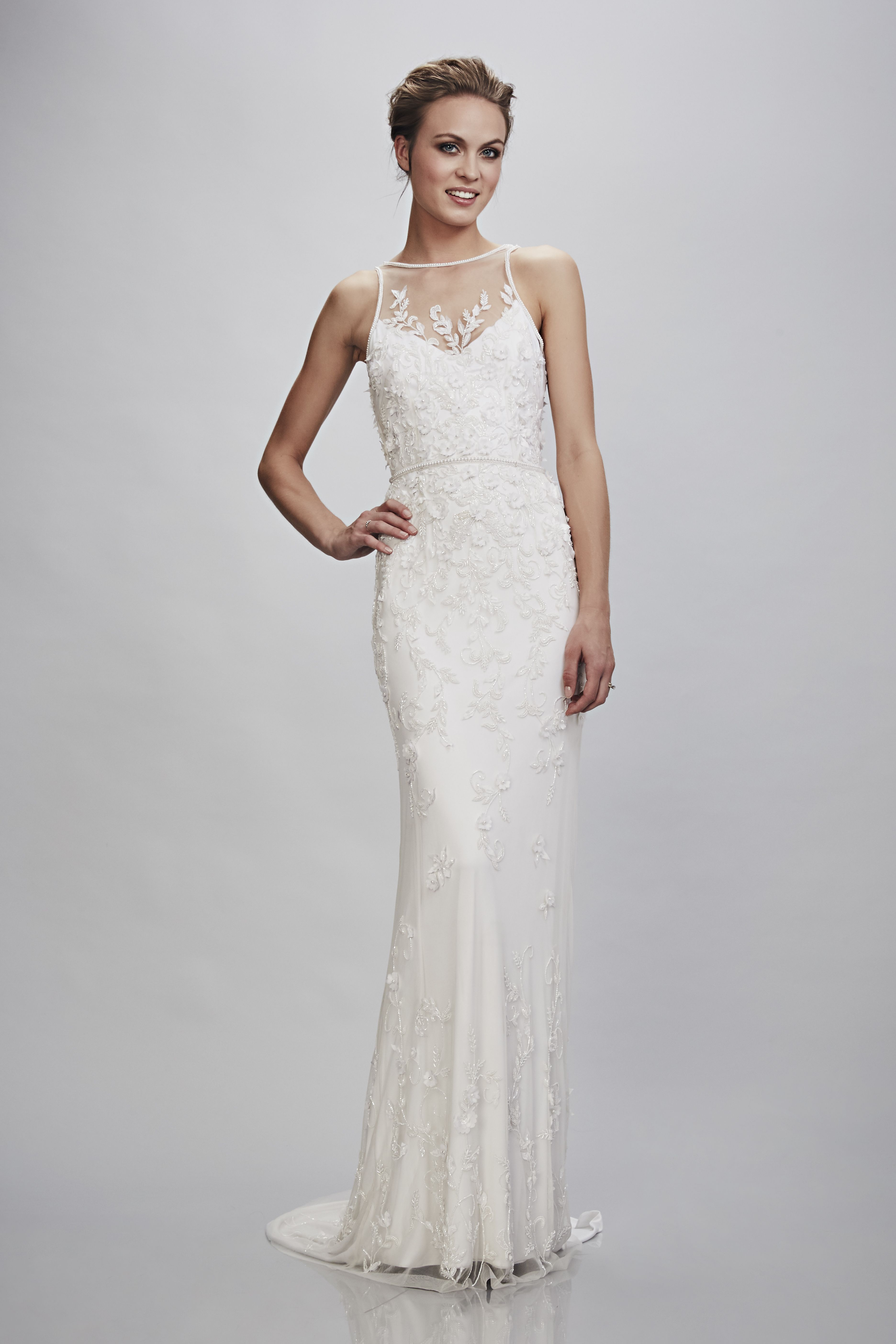 Rachele Bridal Gown Theia Bridal Available With Ivory Slip Or A Beautiful Sky Blue For The Bride Who Is A Theia Bridal Wedding Dress Couture Bridal Dresses
