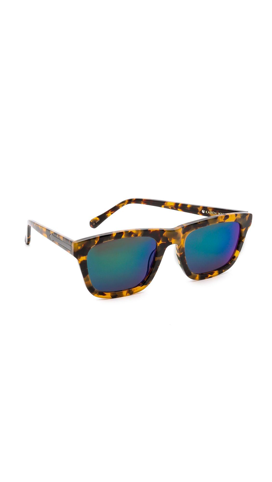 785ed276519 Karen Walker Superstars Collection Number One Mirrored Sunglasses