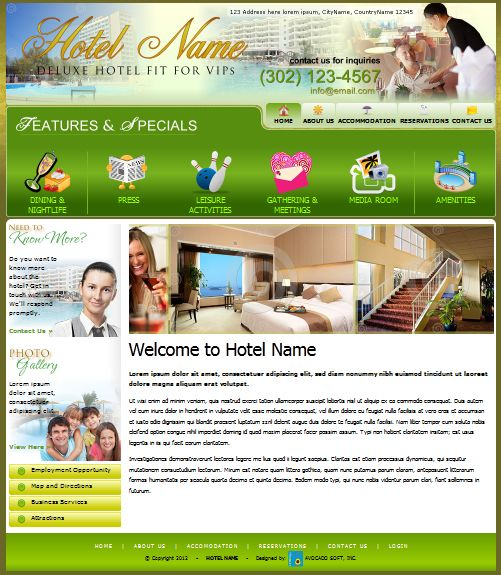 Hotel Website Design #webdesign #websitetemplate #avocadosoft