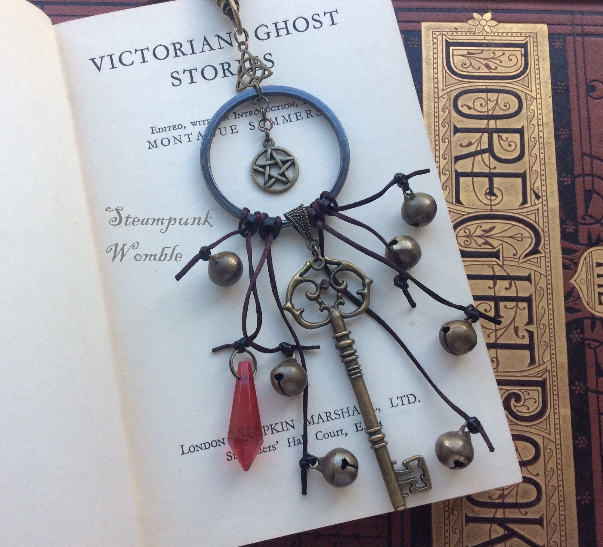 Witches Bells moon Keychain,Home Protection,New Home Gift,Occult Decor,Good Luck